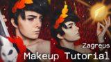 Zagreus – Hades Game Cosplay Makeup