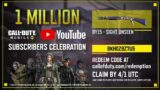 CALL OF DUTY MOBILE : 1 MILLION SUBSCRIBERS CELEBRATION | FREE BY15 SKIN | HADES | VAGUE GAMER