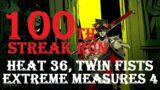 Hades: 100th Streak Run, Extreme Measures 4 (Heat 36, Twin Fists).