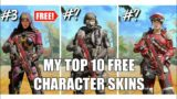 TOP 10 BEST FREE CHARACTER SKIN IN COD MOBILE | HADES #shorts