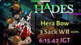 Hera Bow 6:15.42 IGT (New 3 Sack WR) – Hades Speedrun