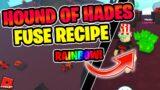 Hound of Hades FUSE FORMULA + Making a RAINBOW Version! | Pet Simulator X
